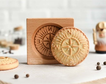 Compass mold - Carved wooden pryanik mold - Gingerbread mold - Cookie mold - mothersday cookie cutter