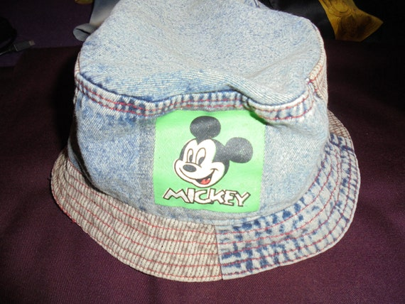vintage bucket kids hat denim