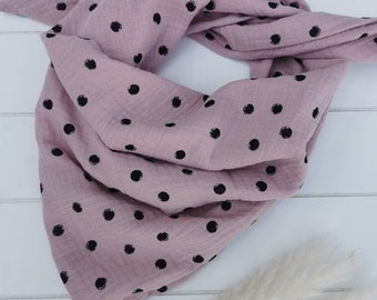 Musselintowel neck scarf triangular scarf children and babies spring meadow