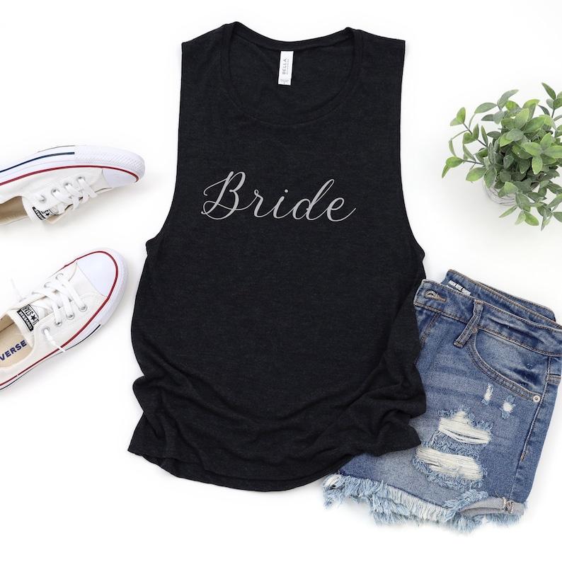 Bride Bride Bride Shirt Bride tank top Wedding Party tank tops Bachelorette Party Bridal Party shirt Wedding Party Shirts Bride Shirts