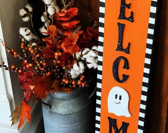 Spooky Welcome Sign| Outdoor| Halloween| Welcome| Porch Decor