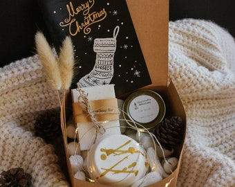 Small christmas gift boxes, holiday gift box, christmas gifts, hug in a box, gifts for women, care package for her