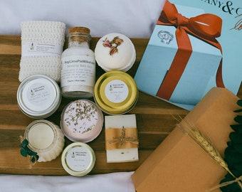 Christmas spa gift box, holiday gift box, natural spa gift set