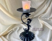 8 Cast Iron Altar Centerpiece, Candleholder, Handmade, Designed Fabricated by a Witchy Woman Welder in NY