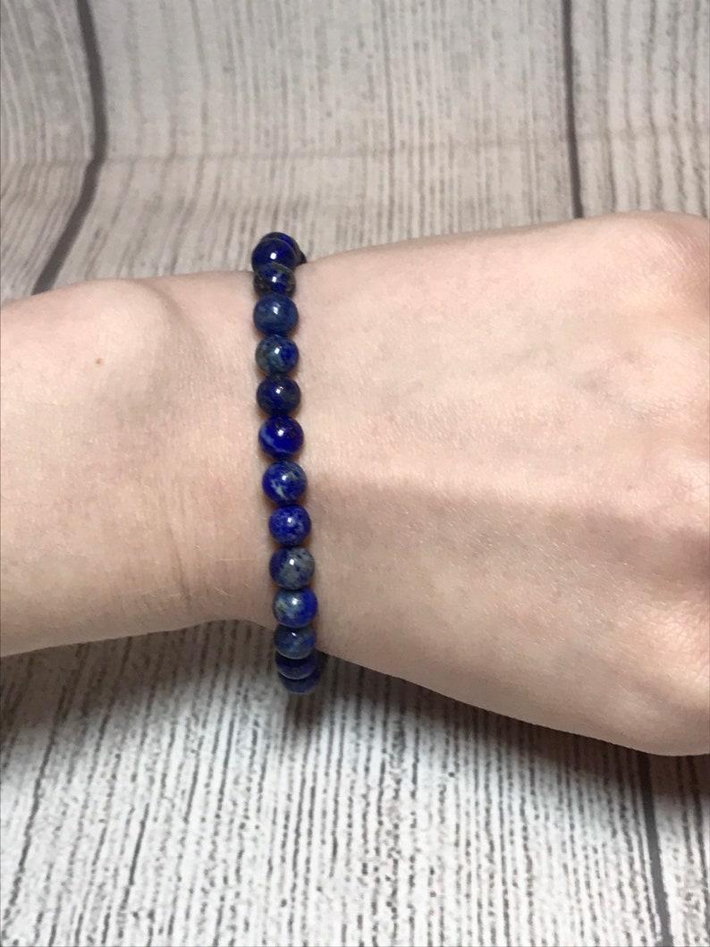 Stocking stuffers for Women Gemstone Bracelet for Women Girlfriend Christmas Gift Lapis Lazuli Bracelet for Women