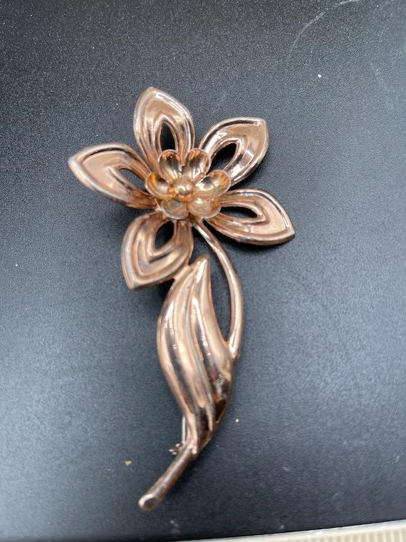 Antique vintage rose gold over sterling silver lar