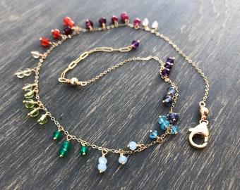 Full Spectrum Droplet Necklace