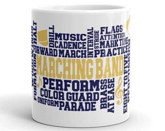 Blue & GoldMarching Band Mug, Purple, Gold, School Band Gift, School Band Mug, School Pride Gift, School Pride
