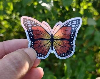 Glitter Butterfly Sticker, Vinyl, Laptop, MacBook, Car, Water Bottle, Waterproof Glossy Sticker