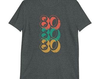Distressed Birthday T-shirt, Birth Year, 1980 Vintage Tee