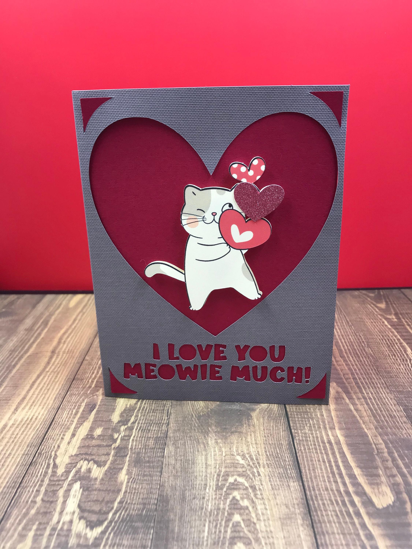 cat greeting card love anniversary  etsy