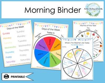 Morning Board Printable, Circle Time Printable, Morning Basket, Morning Binder, Preschool Binder, Busy Book Printable, Homeschool Learning