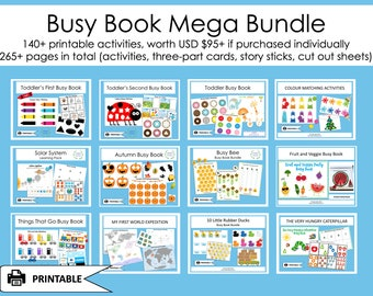 BUSY BOOK Mega Bundle, Busy Book Toddler, Busy Book Pages, Busy Book Preschool, Learning Binder, Homeschool Printable, Busy Binder