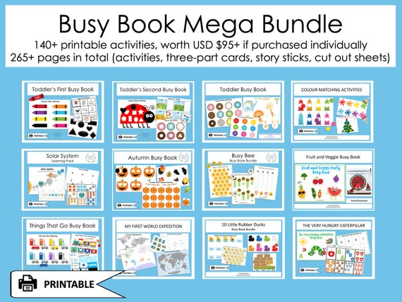 BUSY BOOK Mega Bundle Busy Book Toddler Busy Book Pages