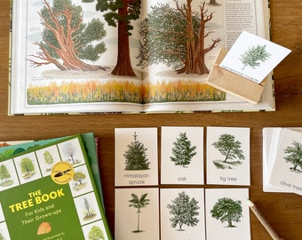 Trees Montessori Flashcards, Montessori Materials Printable, Forest Schooling, Three Part Cards, Nature Study Printable, Homeschool Learning