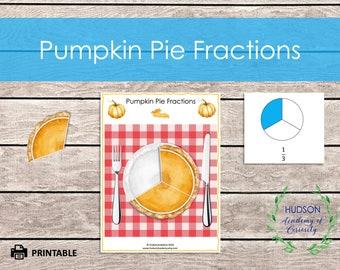 Pie Fraction Printable, Autumn Themed Printable, Fall Learning, Kindergarten Math, Grade School Math, Fractions, Math, Homeschool Learning