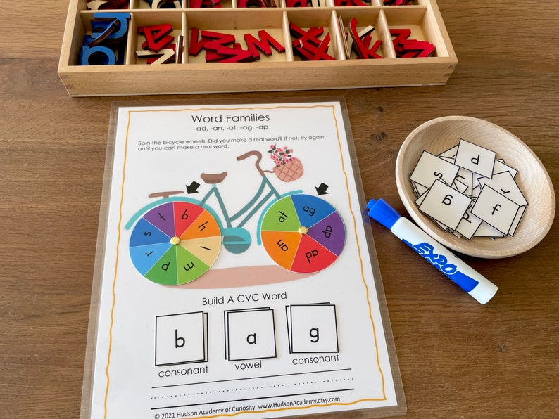 CVC Phonics Game Sight Words Printable Word Families Busy image 0