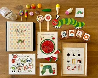Toddler Busy Book, The Very Hungry Caterpillar, Alphabet Learning, Numbers Counting, Matching Activities, Educational Game, Instant Download