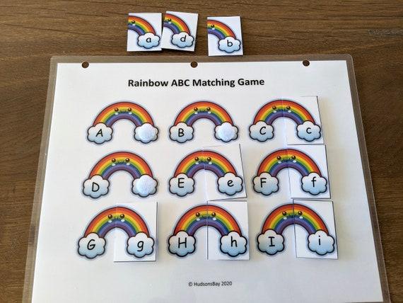 Rainbow Alphabet Matching PRINTABLE BUSY BOOK Worksheet Quiet