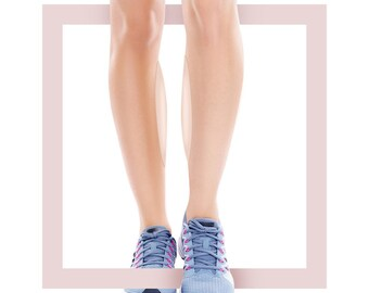 Silicone pads for visual correction of thinness and curvature of the legs