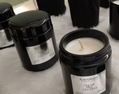 Black luxury soy wax candles with lid