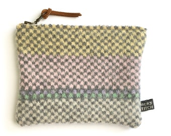 Knitted Lambswool Purse/ Pouch - medium