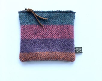 Knitted Lambswool Purse/ Pouch - small