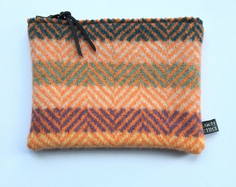 Knitted Lambswool Purse/ Pouch - large