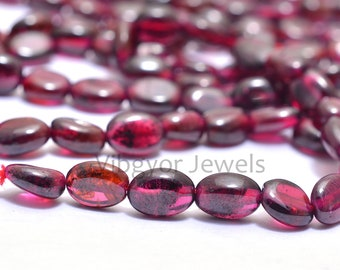 Garnet Oval Shape Faceted Nugget Beads 5x7.MM Approx 9 Inches Natural Top Quality Wholesaler Price.
