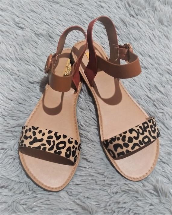 leopard buckle sandals