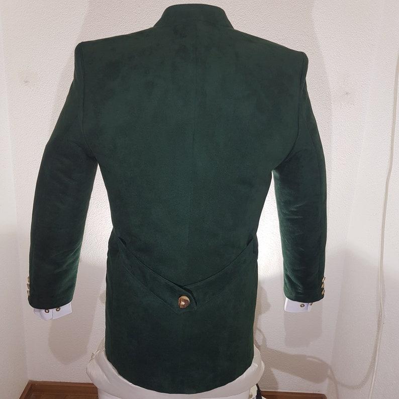 Austria Ischgl Men/'s costume jacket of the brand OS in green suede imitation mi stick for Oktoberfest or folk festival in Bavaria Tyrol