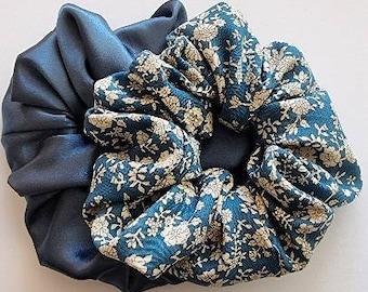 2 pack Scrunchies - Design VERONICA - size XL - handmade