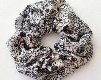 Scrunchie - Design BUTTERFLY - size GIANT - handmade