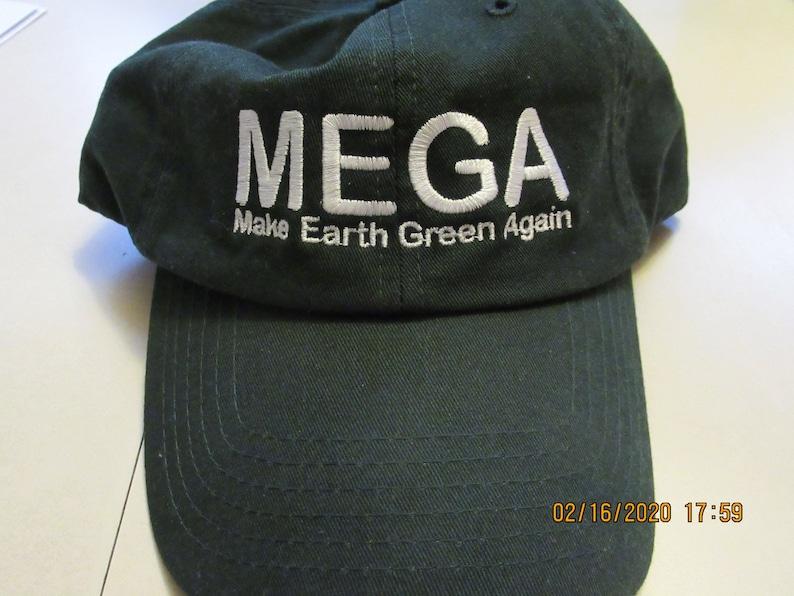 MEGA Hat  Make Earth Green Again  Washed Twill Cap  image 0
