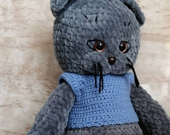 Plush cat. Gift for kids. Handmade plush toy.