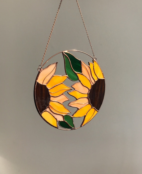 Stained Glass Sunflower Suncatcher