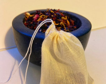 Re-usable cotton teabags