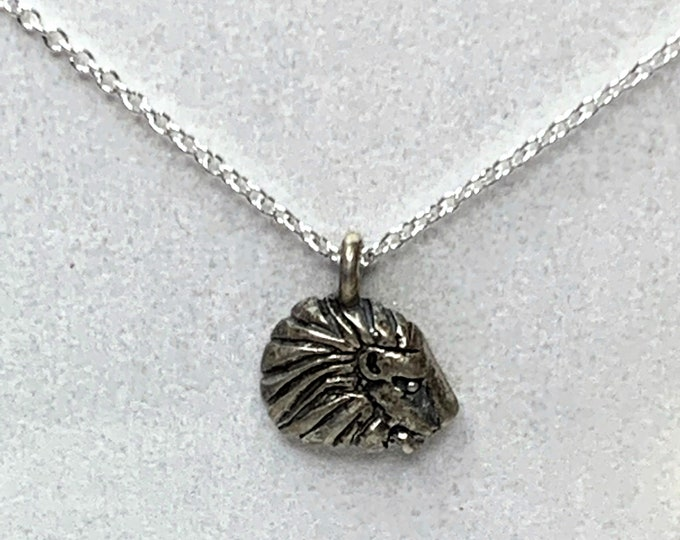 RETIRED Dogeared Sterling Silver Lion Necklace
