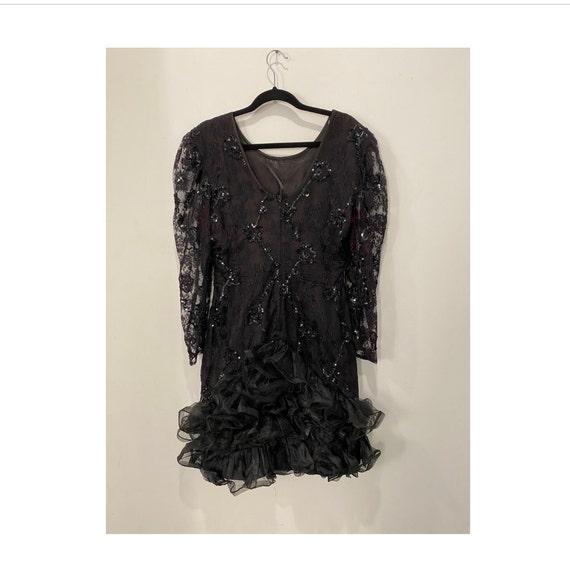 80s Ruffle Dress Lydia Deetz Costume