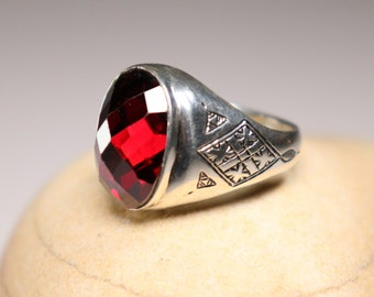Berber Amazigh tribal patterns engraved 925 Silver ring