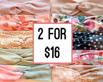2 for 20 Adult Headbands, Soft and Stretchy Adult Turban Headband, Nonslip Hair Accessories