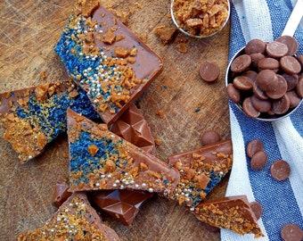 Halloween Butterscotch Chocolate Bark | Homemade with love | Vegan Dark chocolate