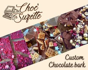 Halloween Custom chocolate bark order| Get your own flavours of chocolate bark! | Homemade with love | Vegan Dark chocolate