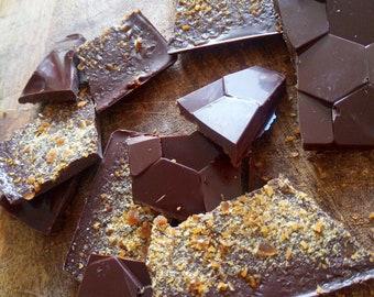 Halloween Espresso Chocolate Bark! Dutch Haagse Hopjes Espresso Coffee Candy Chocolate Bark | Homemade with love | Vegan Dark chocolate