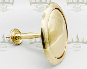 new in bag set of two home trends burnished brass tiebacks spire design decorative hold back