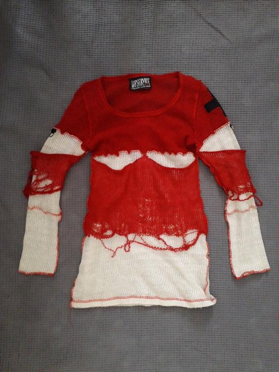 Lip Service vintage Destroyed sweater mini dress,