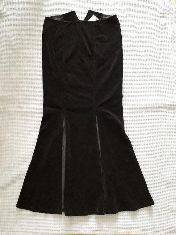 Lip Service - Vicious Velvet fitted long skirt