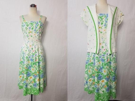1970's Vintage Gunne Sax Style Floral Soft Cotton