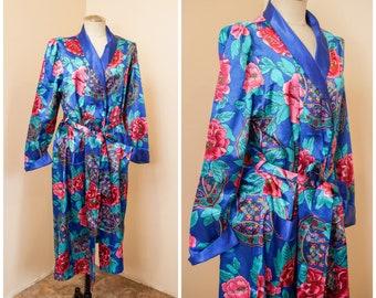 Lingerie Robe Loungewear Pastel Pink Size Small Peach Lace Nightgown Floral Babydoll Ruffle Dress Retro Berklift 1960s Sheer Nightie