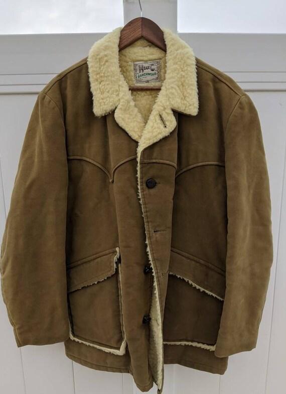 H Bar C Ranchwear Sherpa Coat Vintage
